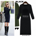 NJ EuropeFashion Hugging Dress - Black