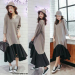 NJ Fashion Stylish Maxi Dress Grey