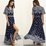 NJ EuropeFashion Charming Dress Dark Blue