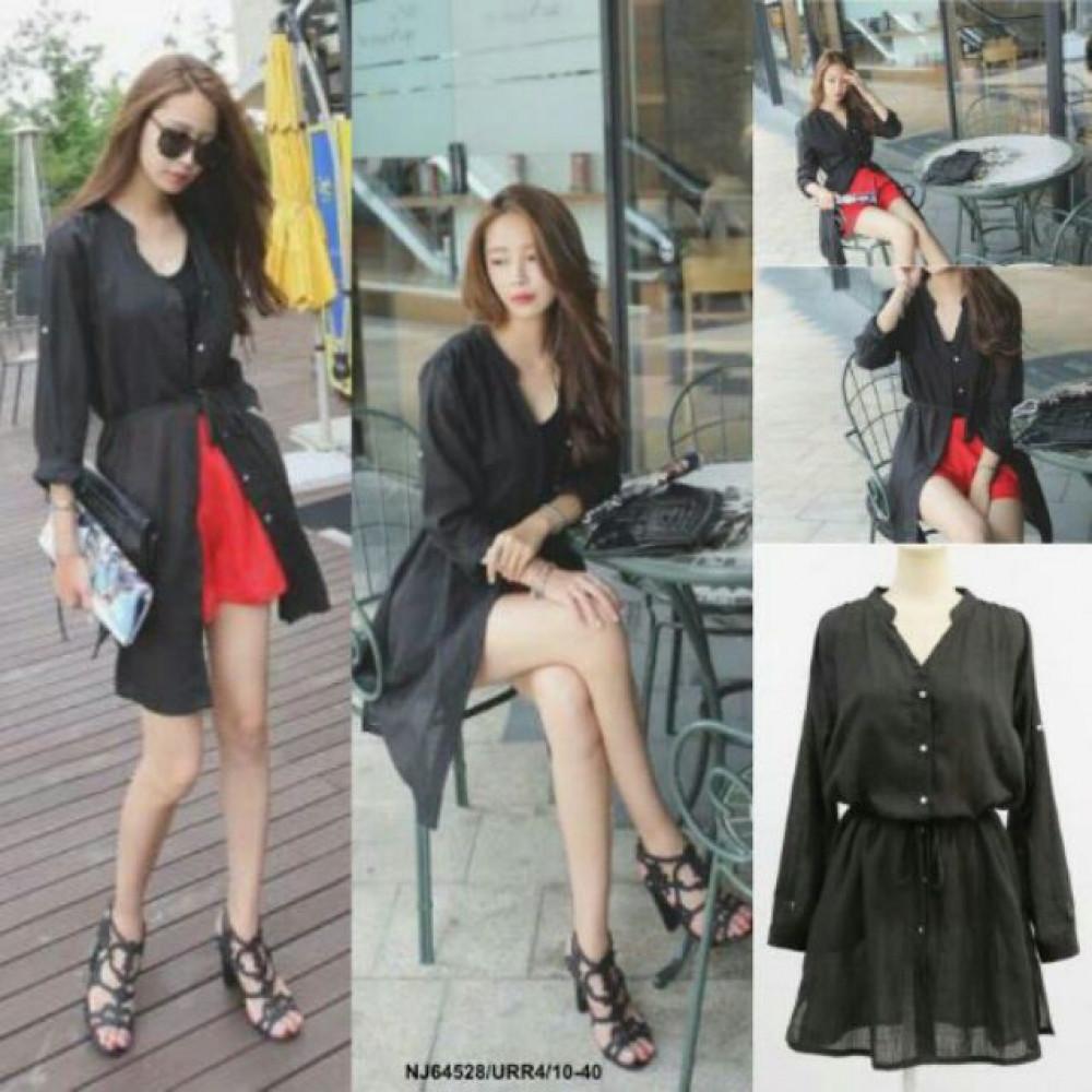NJ Fashion Stylish Cardigan Black