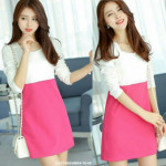 NJ Fashion Charming OL Dress Pink