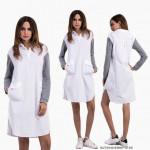 NJ Exclusive Fashion One Piece Dress White with Waist String