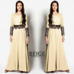 NJ Exclusive Lace Design Waist String Jubah Dress with Back Zip