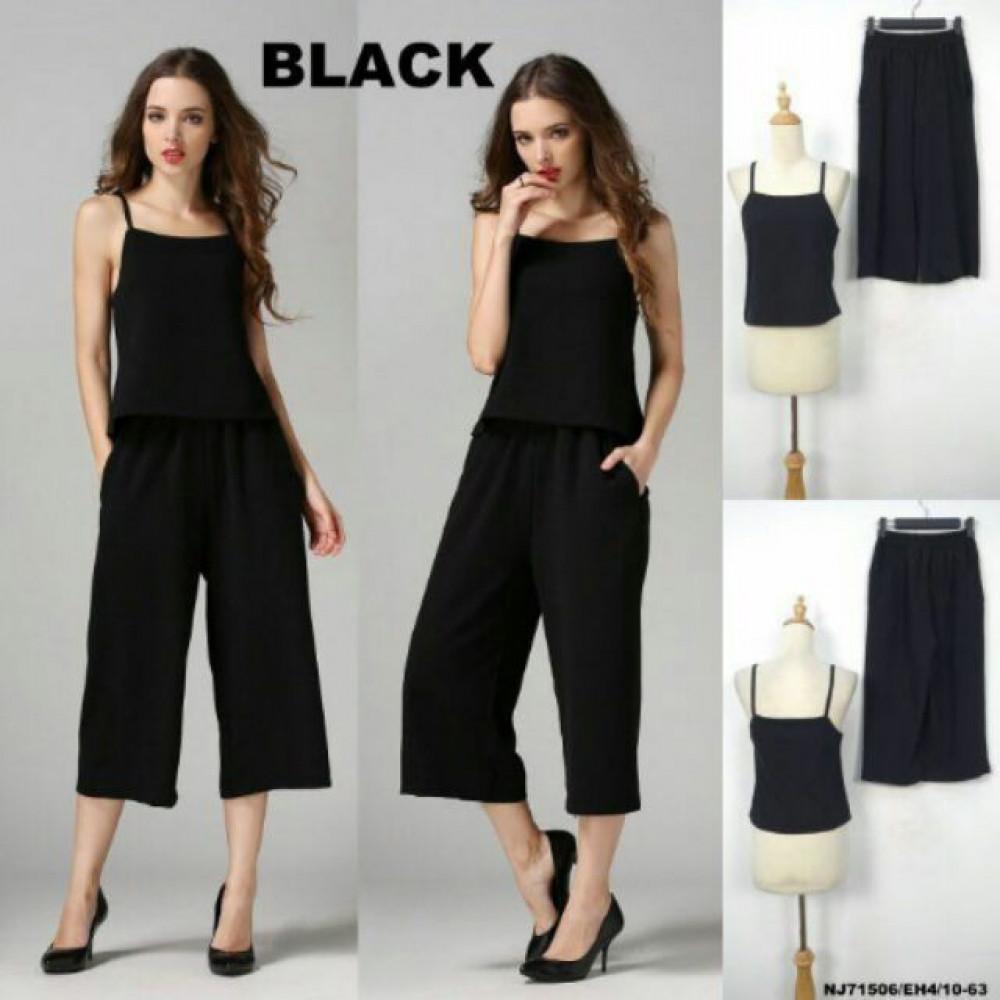 NJ Fashion Top and Pant Black (1 Set)