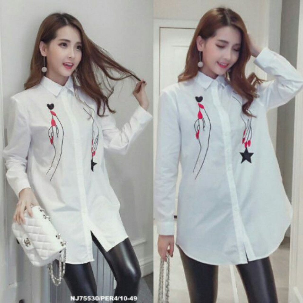 NJ Fashion Elegant White OL Top