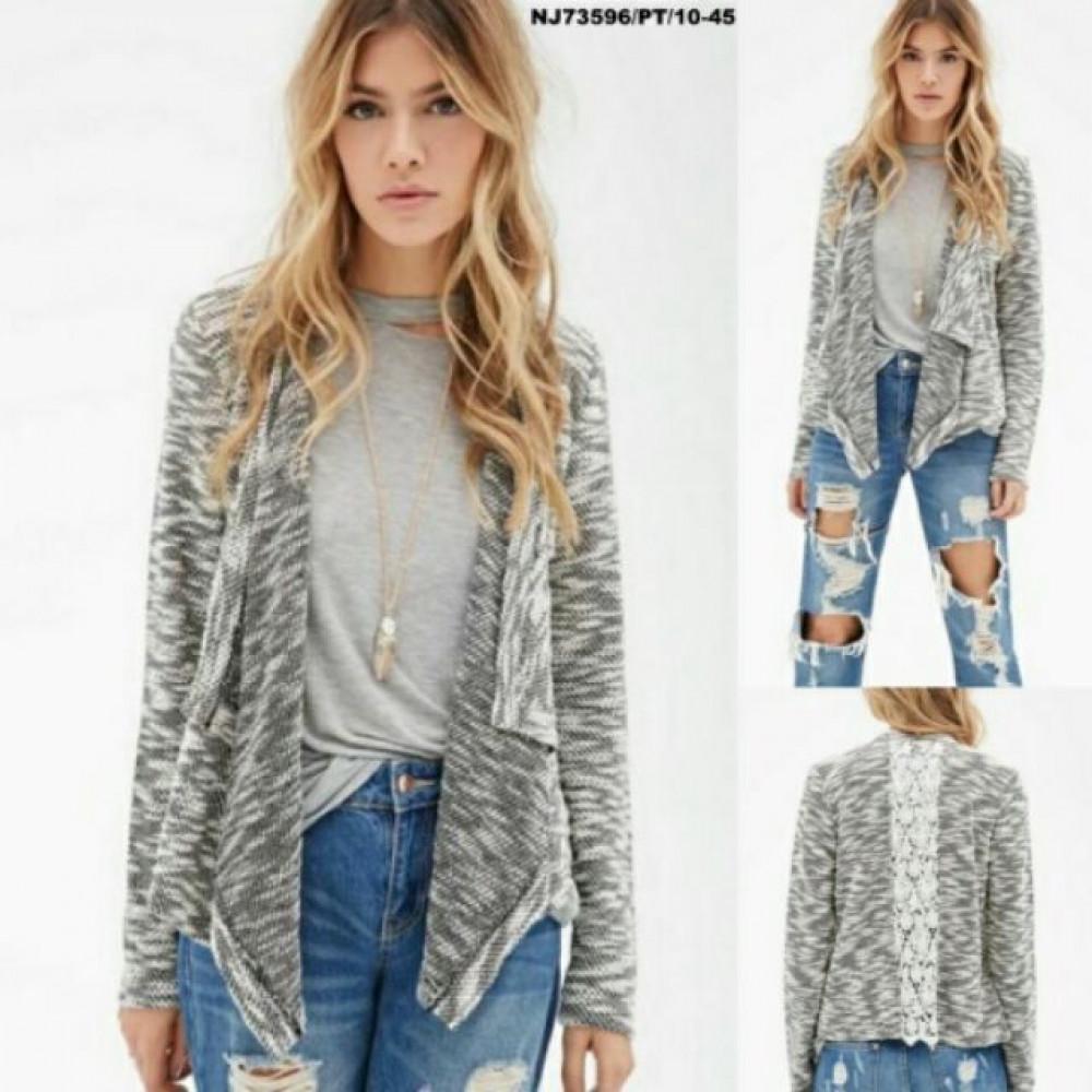 NJ Europe Fashion Cardigan Grey