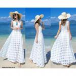 NJ EuropeFashion Stylish Flare Maxi Dress