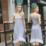 NJ Pretty Sleevesless Dress Grey