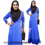 NJ Seoul BunnyFashion RoundNeck Basic Modern Jubah with Shawl - 2 in 1