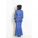 NJ Seoul High Neck Peplum Top + Mermaid Style Skirt - 2 in 1