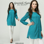 NJ ModernMuslimah Puffy Button Blouse