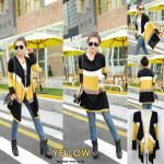NJ Fashion Colourful Stripe Cardigan