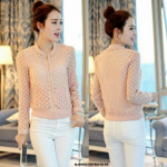 NJ EuropeFashion Flower Lace Stylish Jacket - Pink