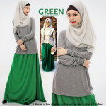 NJ Seoul Basic Casual Top with Long Skirt - 3 in 1