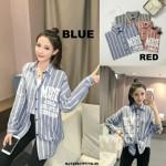 NJ Fashion Stylish Stripe OL Top