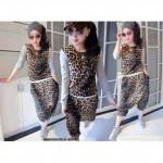 NJ Leopard Design Top and Pant (1 Set)