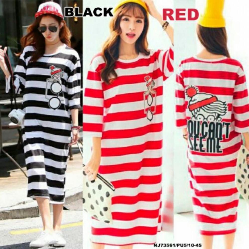 NJ Fashion Stripe Dress