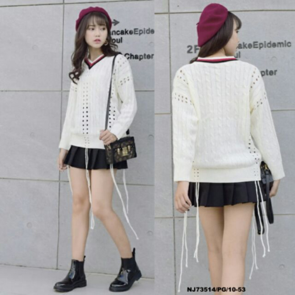 NJ Fashion Stylish Casual Knit Top