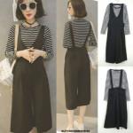 NJ Fashion Jumpsuit - Black (2 Pcs)