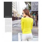NJ Fashion Trendy LongSleeves Top - Yellow
