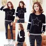 NJ Stylish Casual Top Black