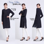 NJ ModernMuslimah Checkers Tunic Blouse