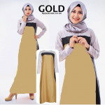 NJ Exclusive Golden Jubah Dress