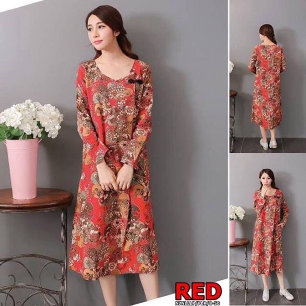 NJ Floral Printed Unique Dress