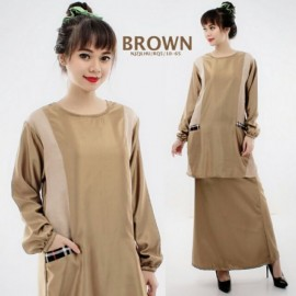image of NJ Pockets Design Modern Kurung (2 Pieces = Top + Skirt)