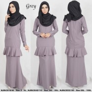 image of READYSTOCK NJBoutique.RTW Exclusive Baju Kurung Collections GREY