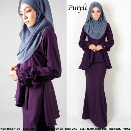 image of NJBoutique.RTW Exclusive Baju Kurung Collections (Ready-To-Wear) PURPLE