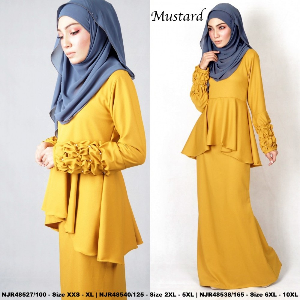 NJBoutique.RTW Exclusive Baju Kurung Collections (Ready-To-Wear) MUSTARD