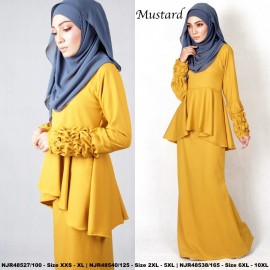 image of NJBoutique.RTW Exclusive Baju Kurung Collections (Ready-To-Wear) MUSTARD