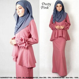 image of NJBoutique.RTW Exclusive Baju Kurung Collections (Ready-To-Wear) DUSTY PINK