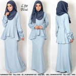 NJBoutique.RTW Exclusive Baju Kurung Collections (Ready-To-Wear) LITE BLUE