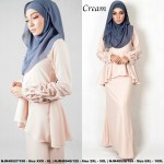 NJBoutique.RTW Exclusive Baju Kurung Collections (Ready-To-Wear) CREAM
