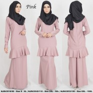 image of READYSTOCK NJBoutique.RTW Exclusive Baju Kurung Collections PINK