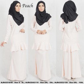 image of READYSTOCK NJBoutique.RTW Exclusive Baju Kurung Collections PEACH