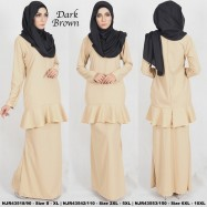 image of READYSTOCK NJBoutique.RTW Exclusive Baju Kurung Collections BROWN