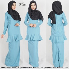 image of READYSTOCK NJBoutique.RTW Exclusive Baju Kurung Collections BLUE