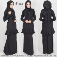 image of READYSTOCK NJBoutique.RTW Exclusive Baju Kurung Collections BLACK