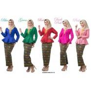 image of NJ DesignerCollections Silk Peplum with Self Tie Sarong