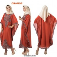 image of NJ DesignerCollections Embroidery Kaftan