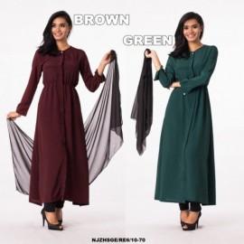 image of NJ SeoulFashion Elegant Hijaber set FREE Shawl