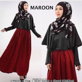 image of NJ SEOUL 3 IN 1 Muslimah Set