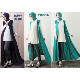 image of READY STOCK❗ NJ SeoulFashion 4 IN 1 Sleeveless Long Cardigan
