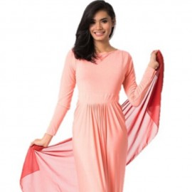 image of NJ Pleated Design One Piece Jubah Dress FREE SHAWL J750