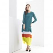 image of NJ Mix Color Tunic Jubah Dress
