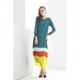 image of NJ Mix Color Tunic Jubah Dress