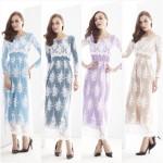 NJ SEOUL Joint Korea Elegant HighQuality Lace Modern Jubah Dress
